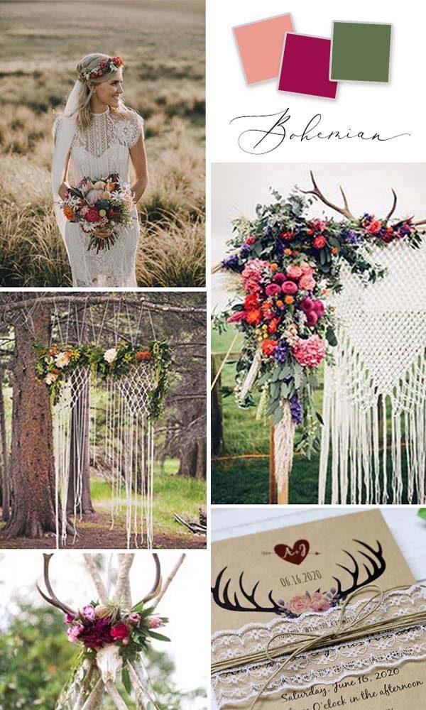 5 Boho Wedding Invitations for 2021 Trends