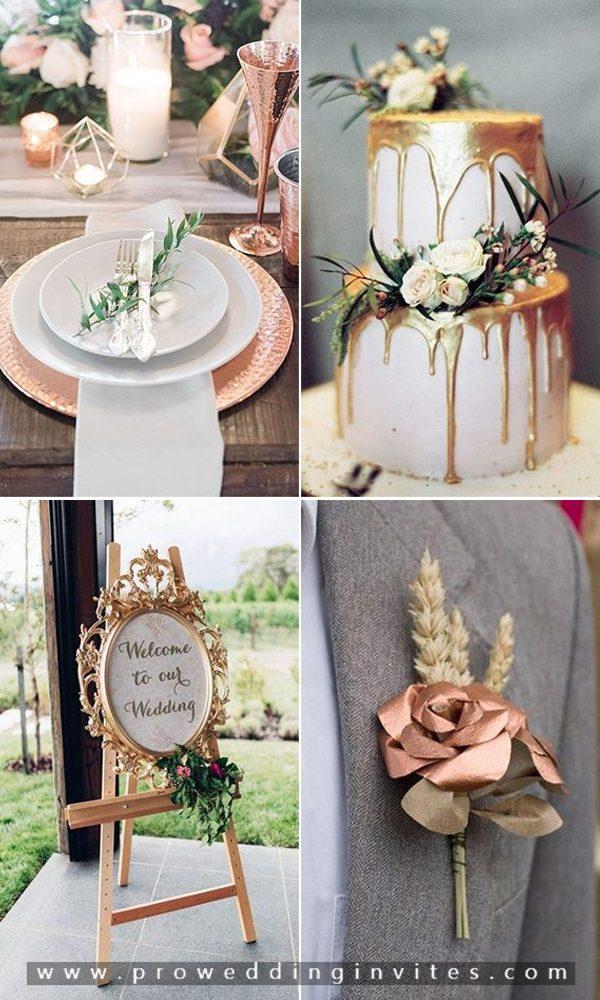 DIY Metallic Wedding Ideas for Your Big Day