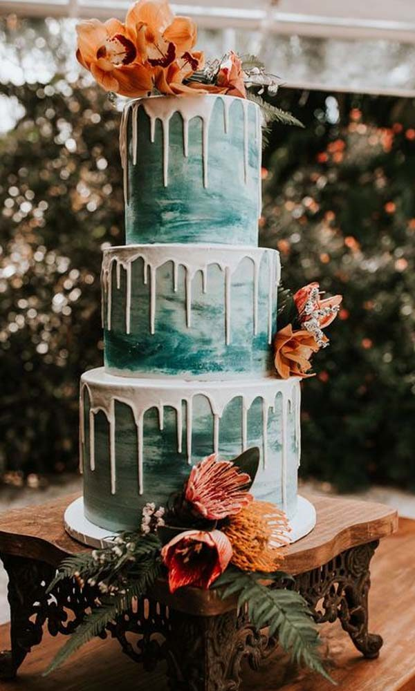 Get Inspired by Spring Wedding Color Combo: Mocha and Teal