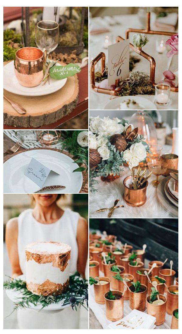 Rose Gold Fall Wedding