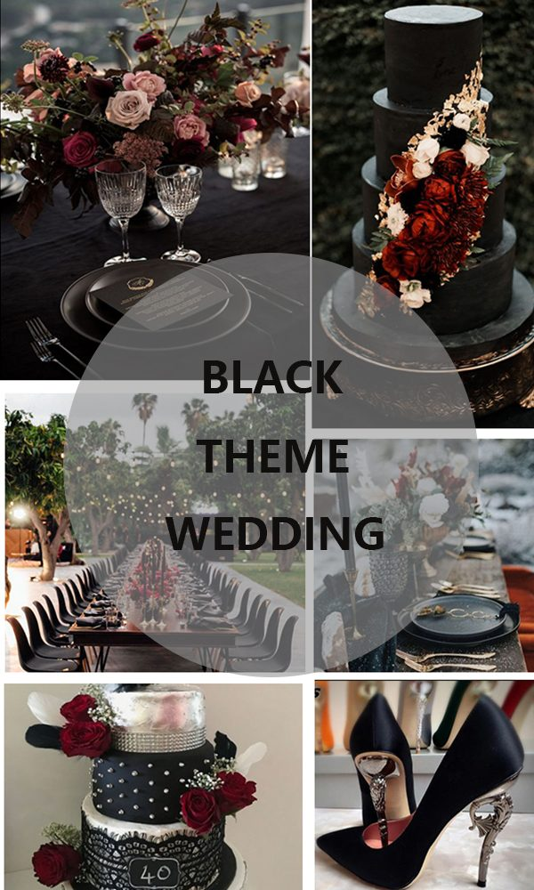 How to Hold a Black Theme Wedding