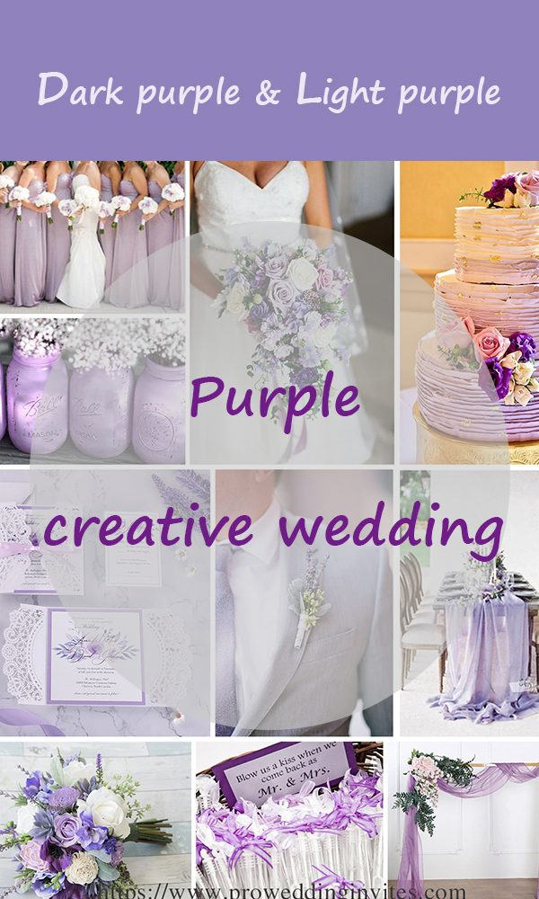 Purple Creative Wedding Ideas