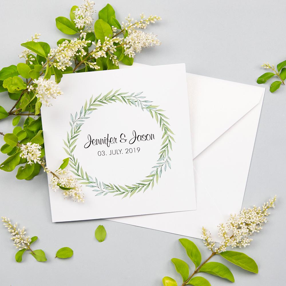 Eucalyptus Fold Out Wedding Invitation Botanical Wedding Pwin002
