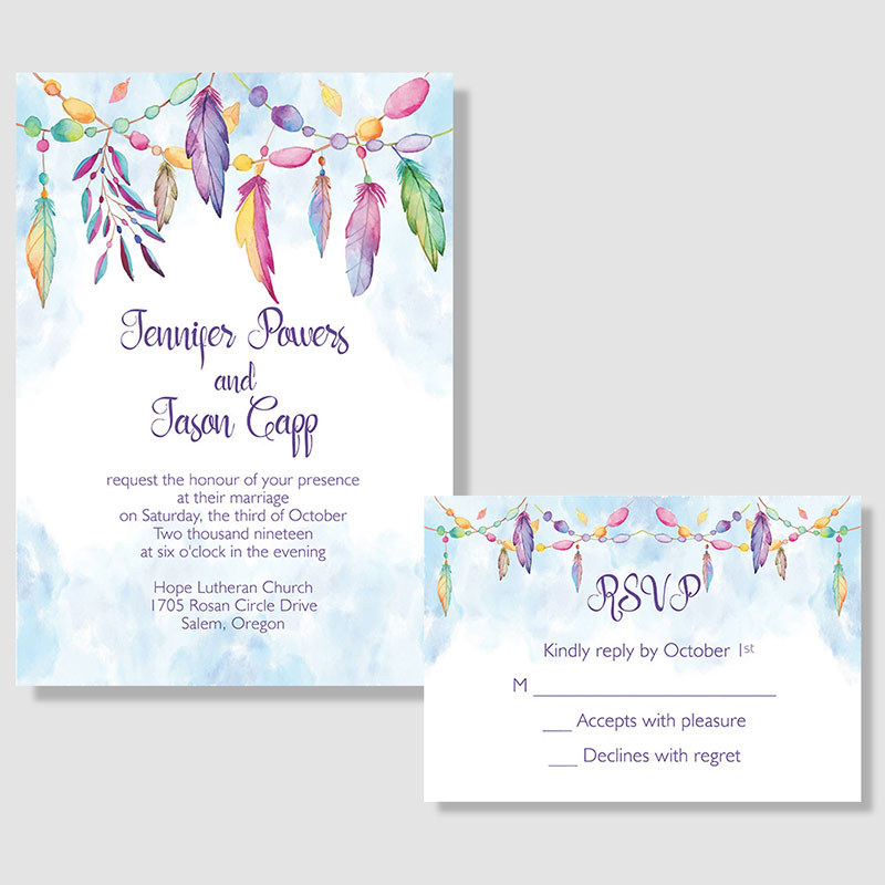 Paint Overlay Wedding Invitations PWIF032