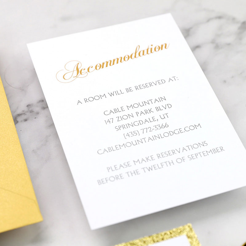 Navy and Gold Laser Cut Wedding Invitation With Champagne Gold Glitter PWIL082