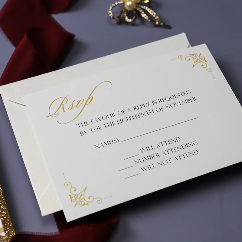 Rose Gold Glittery Laser Cut Wedding Invite with Floral Inspired Insert PWIL090