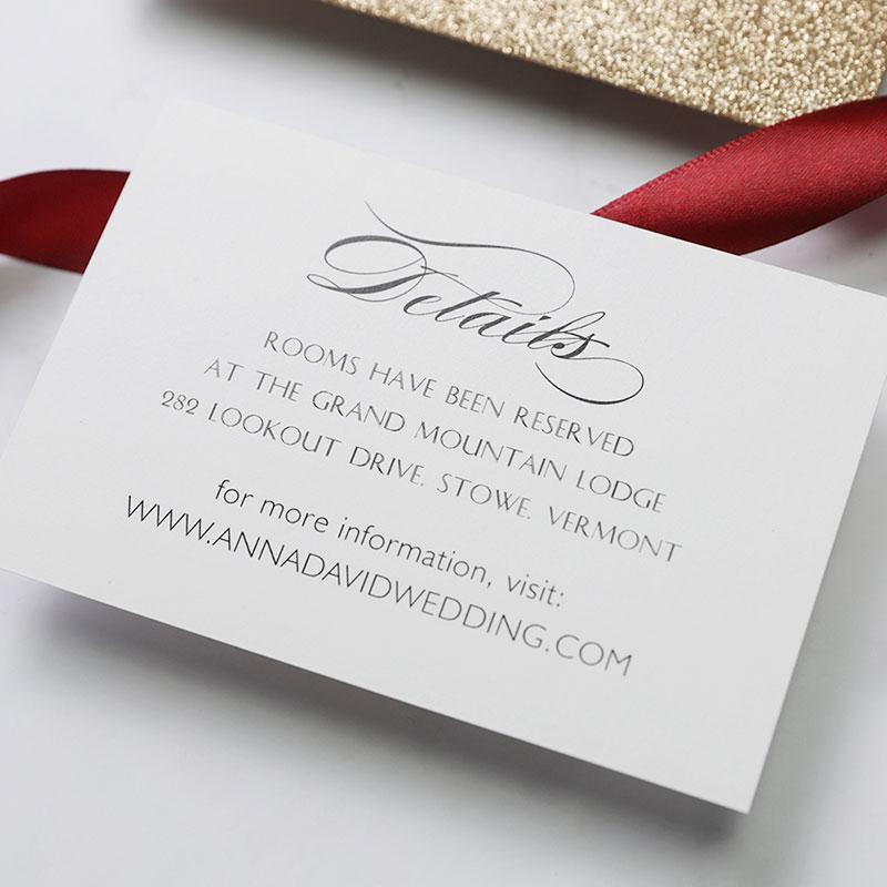 Luxury Glitter Gold Laser Cut Wedding Invitations with Rhinestone PWIM015
