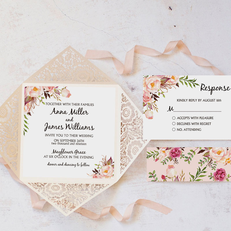 Rustic Pink Flower Apricot fall wedding colors