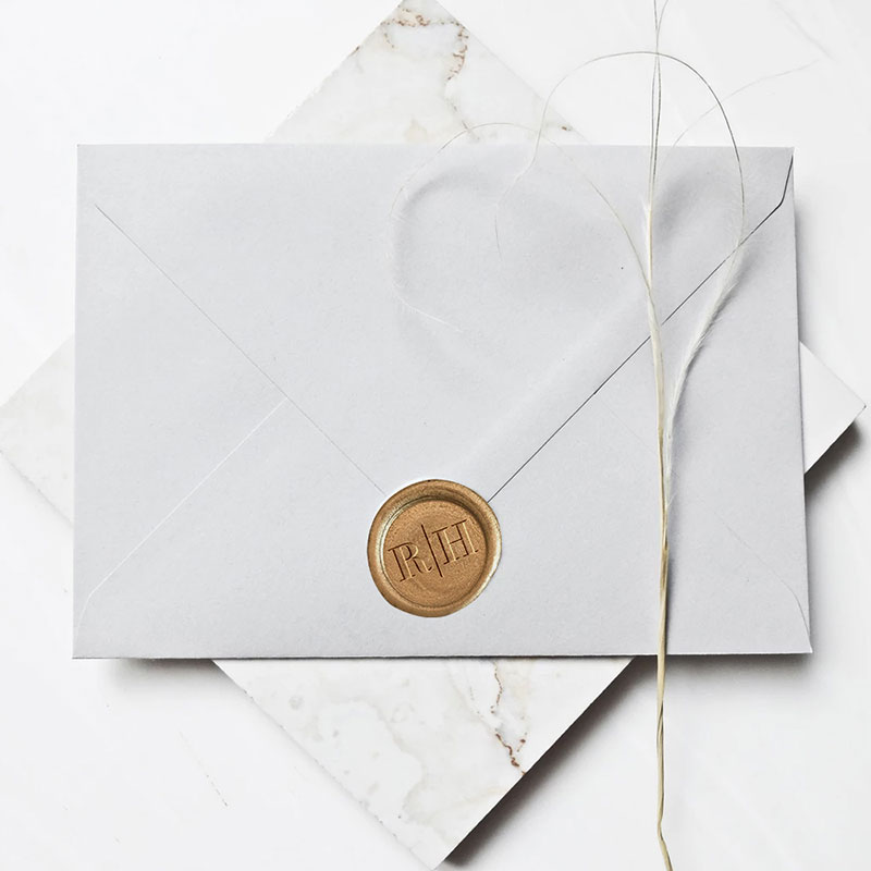 Custom Envelopes Wax Stamp Stickers PWIW