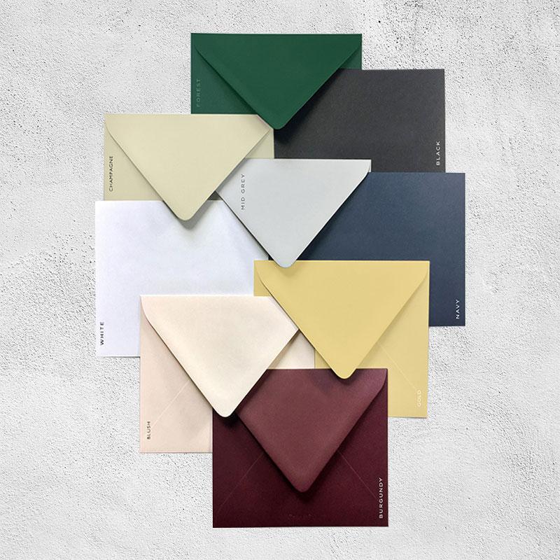 Colorful Premium Shimmer Wedding Invitation Envelope 250GSM