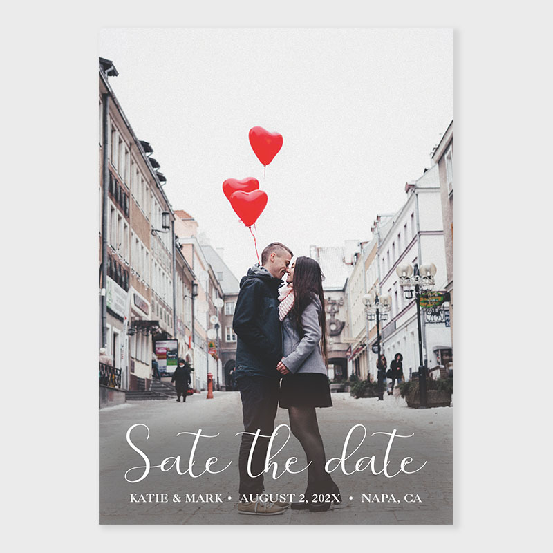 Custom Photo Save The Date Wedding Card PWIS020