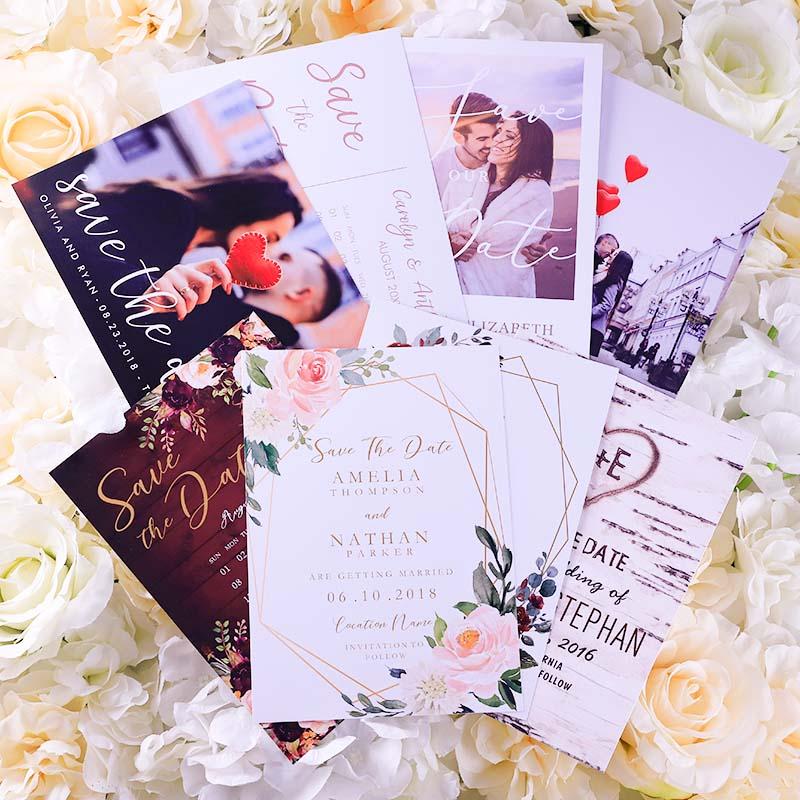 Geometric Chic Save The Date Wedding Invitations PWIS021