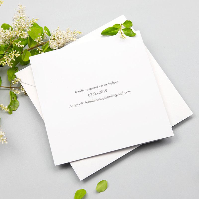 Eucalyptus Fold-out Wedding Invitation Botanical Wedding PWIN002