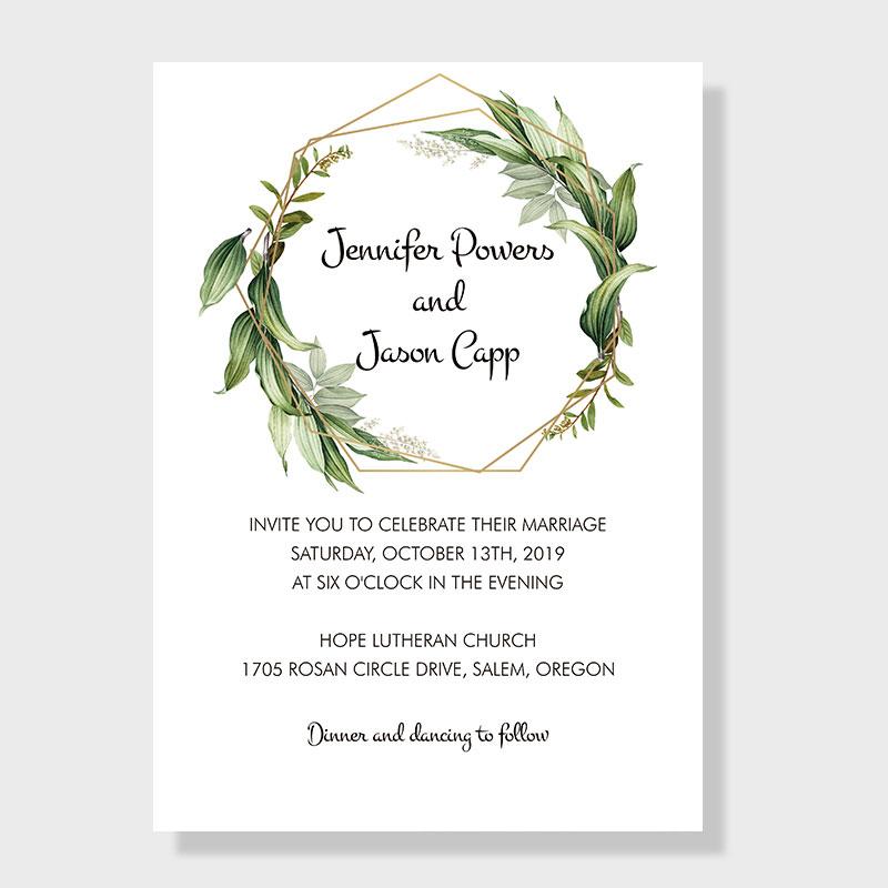 Graceful Garden Lush Greenery Inspired Invitation PWIF020