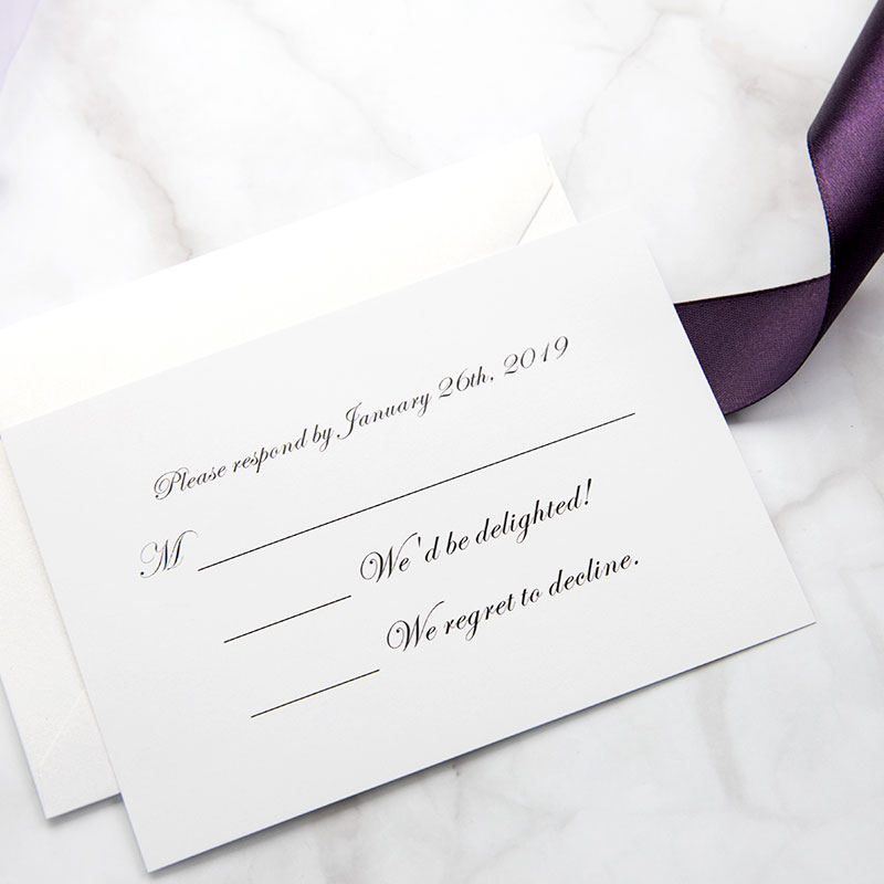 Eggplant Purple Laser Cut Wedding Invitation Cards With Gold Glittery Liners PWIL055
