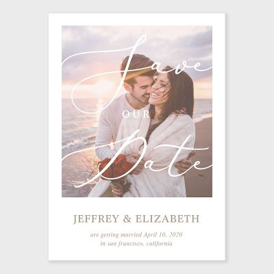 Customized Photo Save The Date Card PWIS018