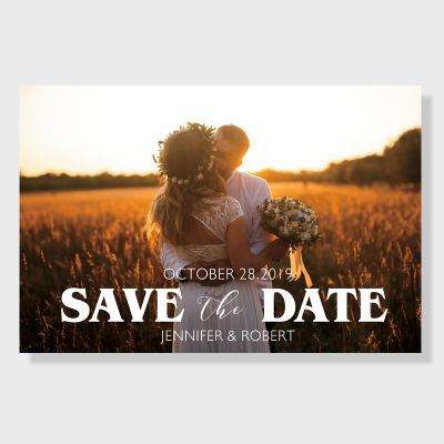 Elegant Personalized Photo Save the Date Card PWIS003