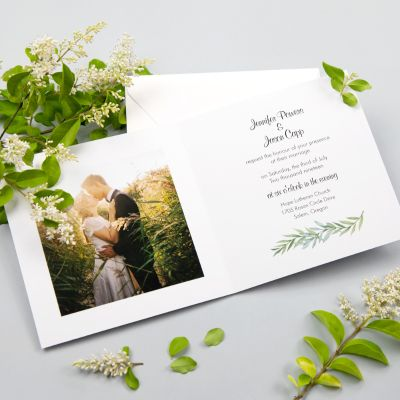 Eucalyptus Fold-out Wedding Invitation Botanical Wedding PWIN002